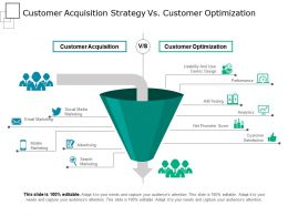 Customer Acquisition Strategy Vs Customer Optimization Powerpoint Slides