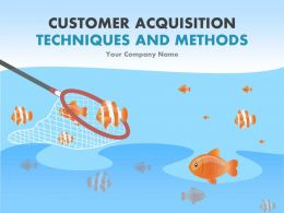 Customer Acquisition Techniques And Methods PowerPoint Presentation Go To Market
