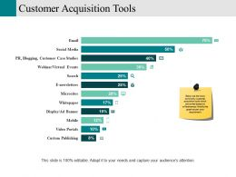 Customer Acquisition Tools Powerpoint Slide Background Picture
