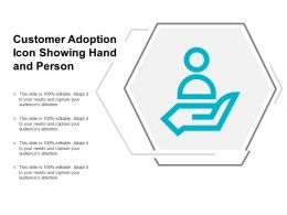 Customer Adoption Icon Showing Hand And Person