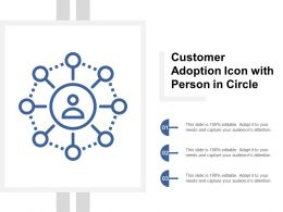 Customer Adoption Icon With Person In Circle