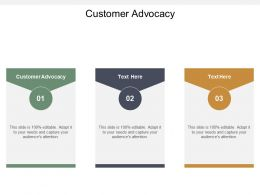 Customer Advocacy Ppt Powerpoint Presentation Styles Elements Cpb