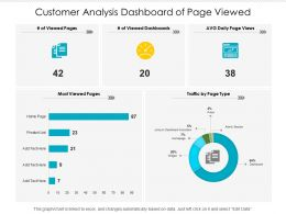 Customer Analysis Dashboard Of Page Viewed