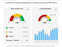 Customer Analysis Dashboard To Measure Service Efficiency