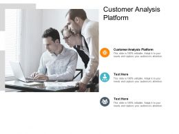 Customer Analysis Platform Ppt Powerpoint Presentation Styles Skills Cpb