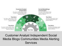 Customer Analyst Independent Social Media Blogs Communities Media Alerting Services
