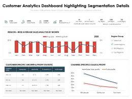 Customer Analytics Dashboard Highlighting Segmentation Details