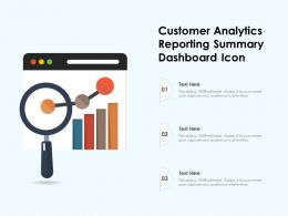 Customer Analytics Reporting Summary Dashboard Icon