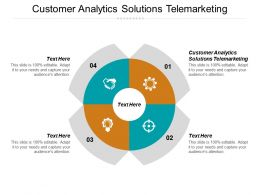 Customer Analytics Solutions Telemarketing Ppt Powerpoint Presentation Gallery Sample Cpb
