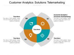 Customer Analytics Solutions Telemarketing Ppt Powerpoint Presentation Gallery Sample Cpb