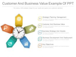 Customer And Business Value Example Of Ppt
