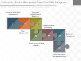 Customer Application Management Powerpoint Slide Background
