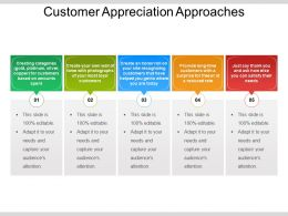 Customer Appreciation Approaches Powerpoint Slide Download