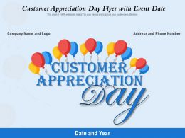 Customer Appreciation Day Flyer With Event Date