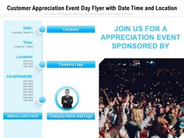Customer Appreciation Event Day Flyer With Date Time And Location