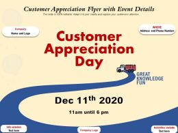 Customer Appreciation Flyer With Event Details