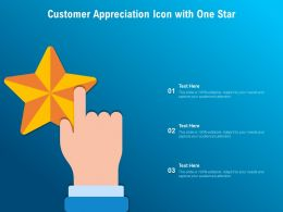 Customer Appreciation Icon With One Star