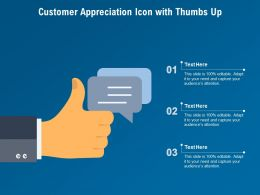 Customer Appreciation Icon With Thumbs Up