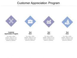 Customer Appreciation Program Ppt Powerpoint Presentation Inspiration Graphics Cpb