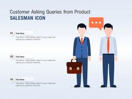 Customer Asking Queries From Product Salesman Icon