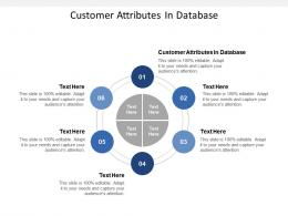 Customer Attributes In Database Ppt Powerpoint Presentation Gallery Maker Cpb