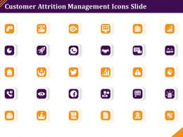 Customer Attrition Management Icons Slide Ppt Powerpoint Presentation Inspiration