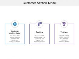 Customer Attrition Model Ppt Powerpoint Presentation Gallery Design Ideas Cpb