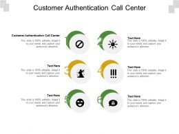 Customer Authentication Call Center Ppt Powerpoint Presentation Professional Design Inspiration Cpb