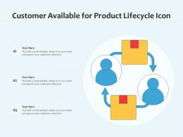 Customer Available For Product Lifecycle Icon