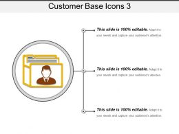 Customer Base Icons 3 Presentation Portfolio