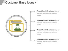 Customer Base Icons 4 Presentation Visuals