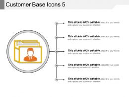 Customer Base Icons 5 Sample Ppt Files