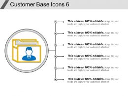 Customer Base Icons 6 Ppt Sample