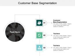 Customer Base Segmentation Ppt Powerpoint Presentation Summary Inspiration Cpb
