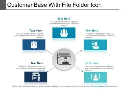 Customer Base With File Folder Icon