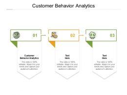 Customer Behavior Analytics Ppt Powerpoint Presentation Summary Visual Aids Cpb