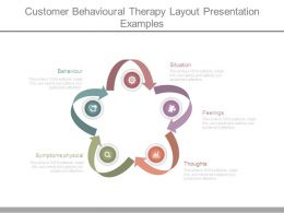Customer Behavioral Therapy Layout Presentation Examples