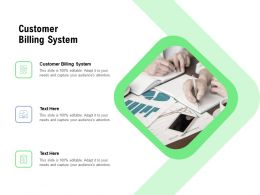 Customer Billing System Ppt Powerpoint Presentation File Deck Cpb