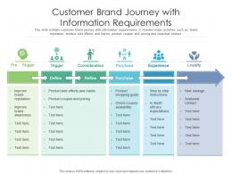 Customer Brand Journey With Information Requirements
