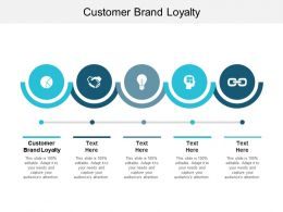 Customer Brand Loyalty Ppt Powerpoint Presentation File Clipart Images Cpb