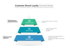 Customer Brand Loyalty Pyramid Model