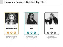 Customer Business Relationship Plan Ppt Powerpoint Presentation Infographics Deck Cpb