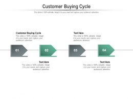 Customer Buying Cycle Ppt Powerpoint Presentation Ideas Templates Cpb
