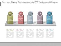 Customer Buying Decision Analysis Ppt Background Designs