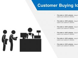 Customer Buying Icon Good Ppt Example