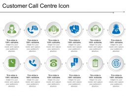 Customer Call Centre Icon Powerpoint Templates