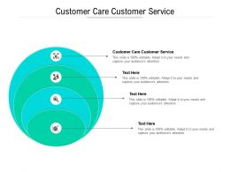 Customer Care Customer Service Ppt Powerpoint Presentation Visual Aids Pictures Cpb