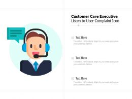 Customer Care Executive Listen To User Complaint Icon