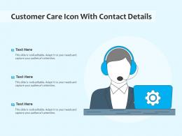 Customer Care Icon With Contact Details