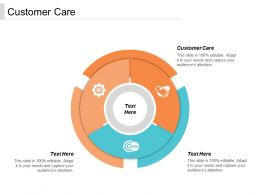 Customer Care Ppt Powerpoint Presentation Gallery Master Slide Cpb